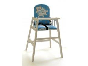 Dřevěná jídelní židlička Faktum Abigel, wenge Barva konstrukce: bílá
