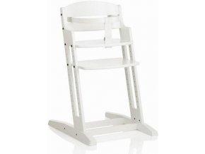 Baby Dan Dřevěná jídelní židlička BabyDan DanChair White