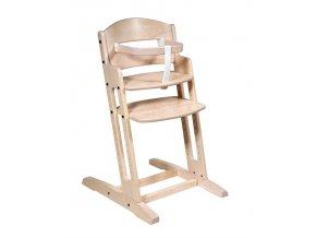 Baby Dan Dřevěná jídelní židlička BabyDan DanChair White Wash