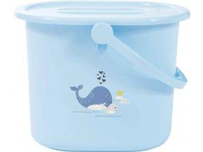 Bebe-Jou Kyblík na pleny s víkem Bébé-Jou Wally Whale dream Blue