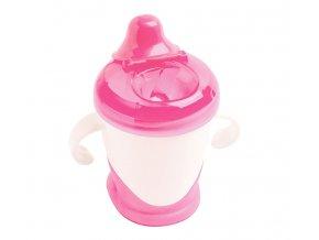 dBb Remond dBb Dětský pohárek s nekapacím pítkem 250 ml, Růžová