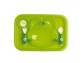 dBb Remond dBb Jídelní tác se lžící a vidličkou Barva: Zelená