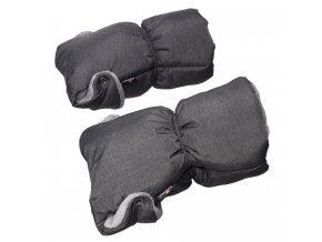 Baby Dan extra teplé rukávníky ke kočárku, šedé