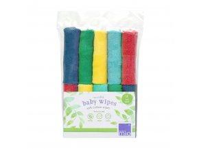 Bambino Mio Opakovaně použitelné dětské ubrousky 10ks, rainbow