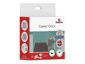 Baby Dan Baby BabyDan pojistka pro dveře zásuvek a skříní 4ks Cabinet Catch, BIO