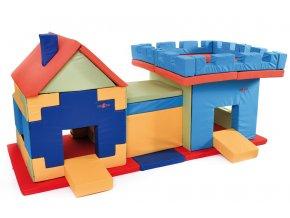 Bind a Bery Kft. Hrací dětský domeček Tetris, tunel a věž z molitanu
