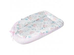 Hnízdo pro miminko bavlněné Hydrangea 90x60cm