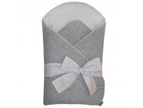 EKO Zavinovačka z pleteniny Grey-Grey 75x75cm