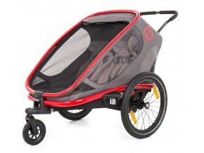 OUTBACK 2v1 - double vozík za kolo grey/red/antrac