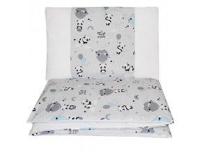 EKO Prádlo ložní 2dílná Panda 90x120cm + 40x60cm