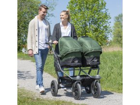 Duo combi pushchair - air wheel brown