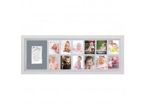 Adora Sada pro otisk - nástěnný rámeček pro 12 fotografií - bílý