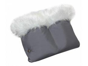 Rukávník kočár LUXURY - softshell tmavě šedý