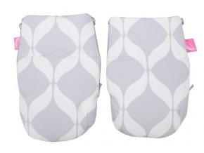 Rukavice na kočárek Softshell Classics Grey 1 pár