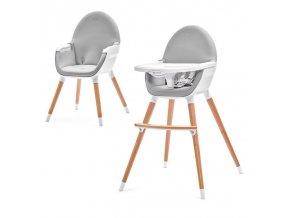 KINDERKRAFT Židlička jídelní FINI grey