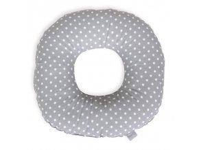 CEBA Polštář poporodní kruh Tečky bílo-šedé