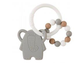 Kousátko silikonové BPA free Lapidou sloník