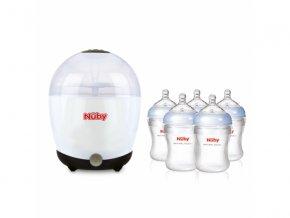 Elektrický sterilizátor + 5 lahví 210 ml