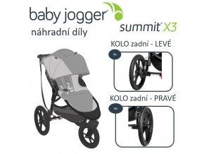 BabyJogger KOLO zadní SUMMIT X3 PRAVÉ