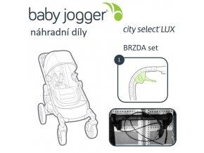 BabyJogger BRZDA set CITY SELECT LUX