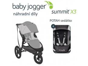 BabyJogger POTAH sedátka SUMMIT X3 šedo/zelený