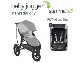 BabyJogger POTAH sedátka SUMMIT X3 cobalt