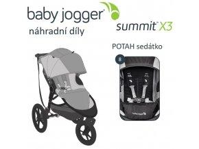 BabyJogger POTAH sedátka SUMMIT X3 black