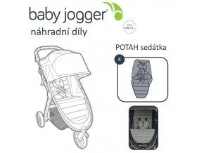 BabyJogger POTAH sedátka CITY MINI GT 2 slate