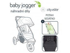 BabyJogger POTAH sedátka CITY ELITE charcoal