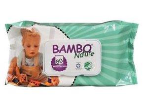 BAMBO Nature Ubrousky vlhčené 80 ks
