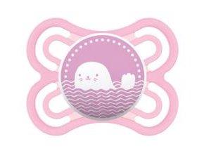 MAM Dudlík Perfect 0-6 měsíců, silikon růžový, velryba