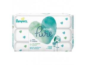 PAMPERS Aqua Pure vlhčené ubrousky 3 x 48 ks