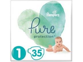 PAMPERS Pure Protection S1, 35 ks (2-5 kg) – jednorázové pleny