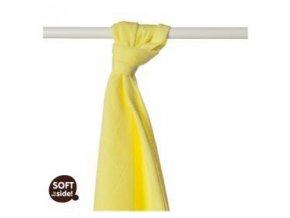 KIKKO Osuška/plena bambusová Colours 90x100 (1 ks) – lemon