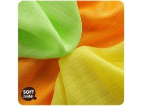KIKKO Ubrousky bambusové Colours 30x30 (9 ks) – lime, lemon, orange