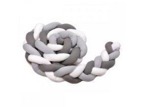 T-TOMI Mantinel pletený 180 cm, white + grey + anthracite