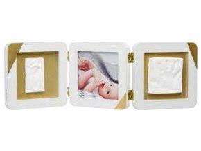 BABY ART Rámeček na otisky a fotografii Gold Dipped Frame Double White