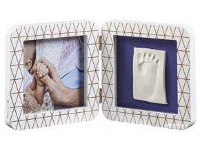BABY ART Rámeček na otisky My Baby Touch - Simple Copper Edition White