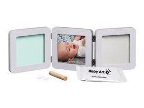 BABY ART Dvojitý rámeček na otisky + foto - Pastel