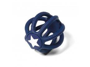 BABYONO Kousátko silikonové Ortho modré