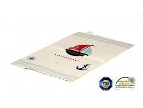 Ladotex Kft. Cestovní přebalovací podložka 42 Loďka
