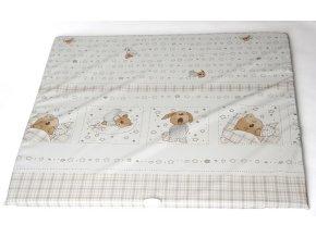 Ladotex Kft. Plochá přebalovací podložka 75x85 Vzor: 11 ospalý medvídek