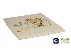 Ladotex Kft. Plochá přebalovací podložka 75x85 Vzor: 19 medvěd s kvítky