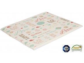 Ladotex Kft. Plochá přebalovací podložka 75x85 Vzor: 32 Love