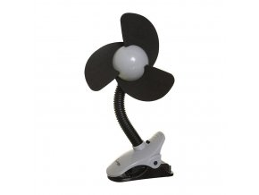 DREAMBABY Ventilátor na kočárek FIN černý