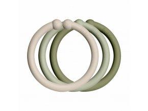 BIBS Loops krúžky 12ks Vanilla / Sage / Olive