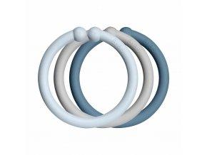 BIBS Loops krúžky 12ks Baby Blue / Cloud / Petrol