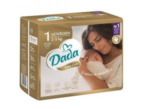 DADA Pleny jednorázové Extra Care vel. 1 (2-5 kg), 23 ks