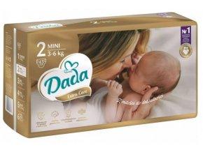 DADA Pleny jednorázové Extra Care vel. 2 (3-6 Kg), 43 ks