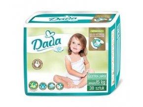 DADA Jednorázové pleny Extra Soft XL vel. 6 (15+ kg), 38 ks